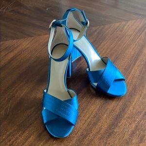Ann Taylor teal blue sandals.